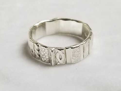 Gotham Ring, Sterling Silver, Various Sizes