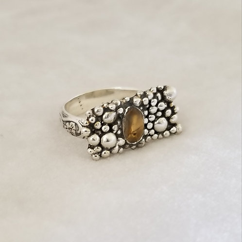 Tiny Bubbles Ring with Citrine, Size 6