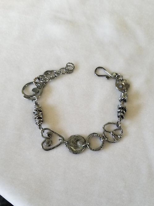 Circle Charms Link Bracelet