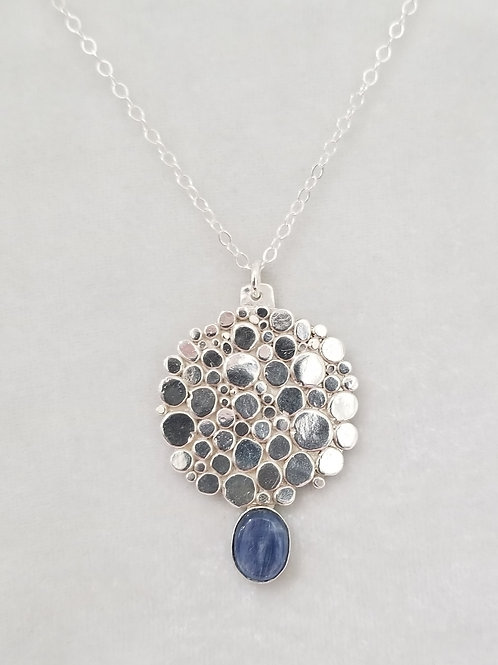 Stepping Stones Round Pendant with Kyanite