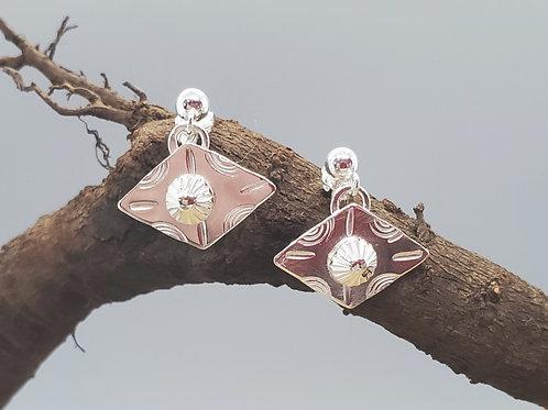 Pretty Petites Earrings, Sideways Diamonds
