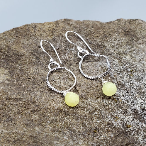 Color Drop Earrings with Lemon Quartz Drops