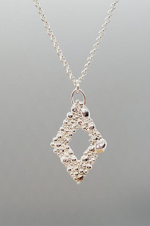 Tiny Bubbles Diamond Shaped Pendant