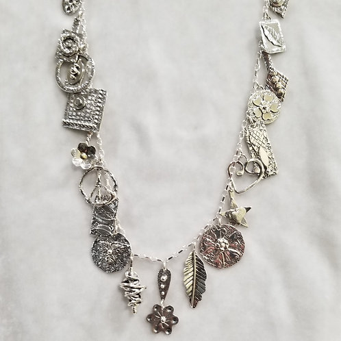 Wild Charms, Charm Necklace #5, Sterling Silver