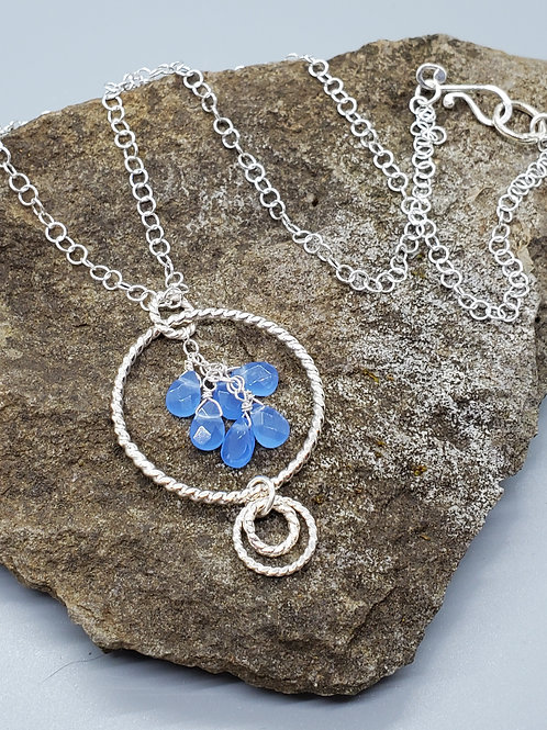 Color Drop Pendant with Blue Spinel