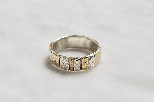 Gotham Sterlig Silver & 14k Gold Filled Ring, Size 8.5