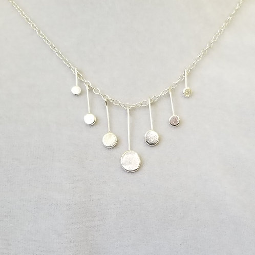 Delica, Sterling Silver Disc Necklace