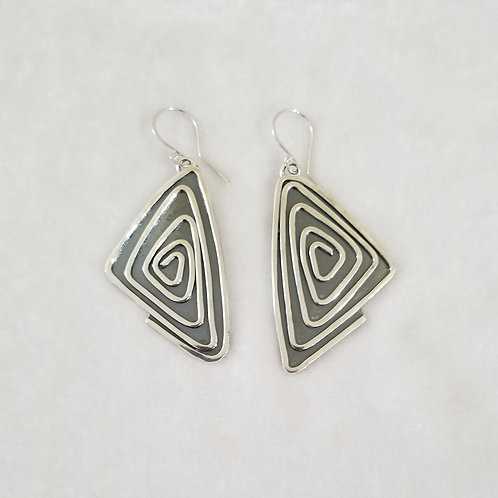 Wild Charms Triangle Swirl Earrings, Extra Large