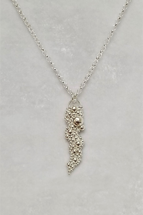 Tiny Bubbles Sterling Silver Small Pendant