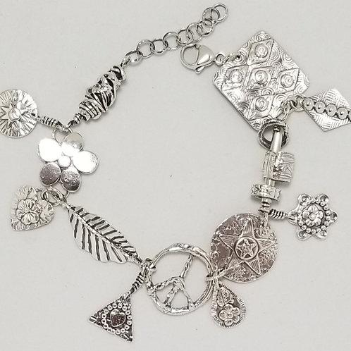 Wild Charms Bracelet, Sterling Silver, #12