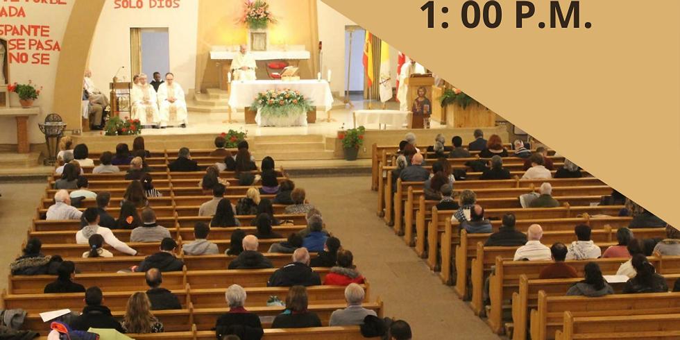 Misa Domingo 9 de Mayo - 1:00 P.M.