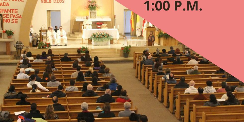 Misa Domingo 6 de Junio- 1:00 P.M.