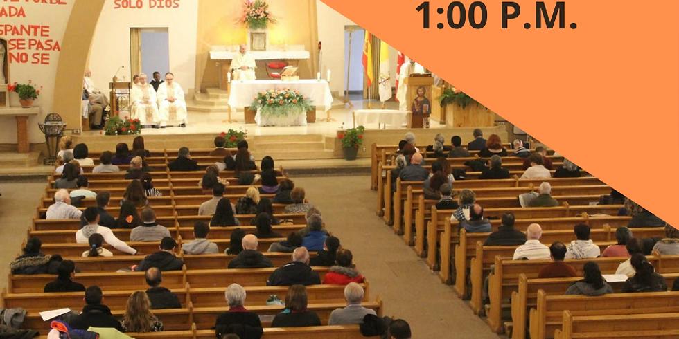 Misa Domingo 30 de Mayo - 1:00 P.M.