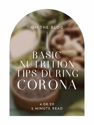 Basic nutrition tips during Corona