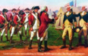 Lord Cornwallis surrendering to George W