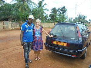voiture de notre chauffeur au togo