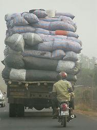chargement d'un camion