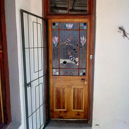 Anne Side Front Door, Hoopoes with Protea Front Door.