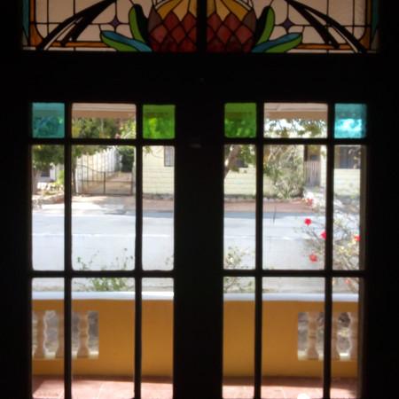 French doors Protea & Sugar bird