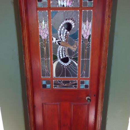 Hoopoe in Flight Main Bedroom Door.