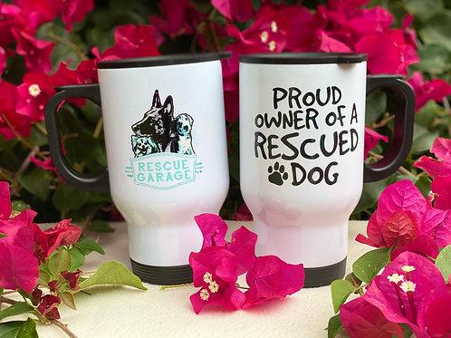 14 oz Proud Owner Travel Mug with RG logo