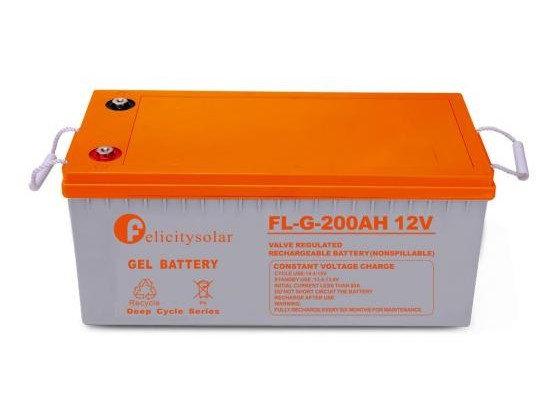 Deep Cycle Solar Gel battery 12V 200ah