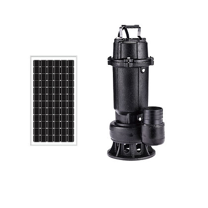 "DC Brushless Submersible Solar Pump 550W 2"" In-Built Controller"