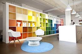 showroom interiors reception design