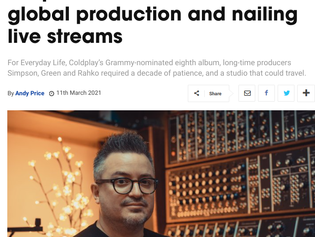 Music Tech interviews UA-endorser Rik Simpson (Coldplay)