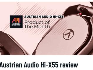 Austrian Audio Hi-X55 - Product of the Month at Audio Media International