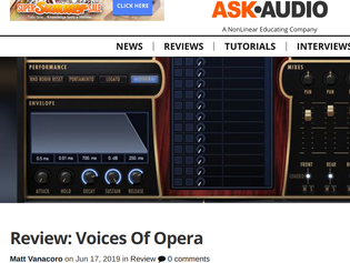 """""""Incredibly handy"""" - Ask.Audio reviews EastWest Voices of Opera"""