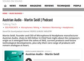SOS interviews Austrian Audio CEO Martin Seidl