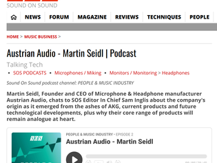SOS interviews Austrian Audio CEO Martin Seidl