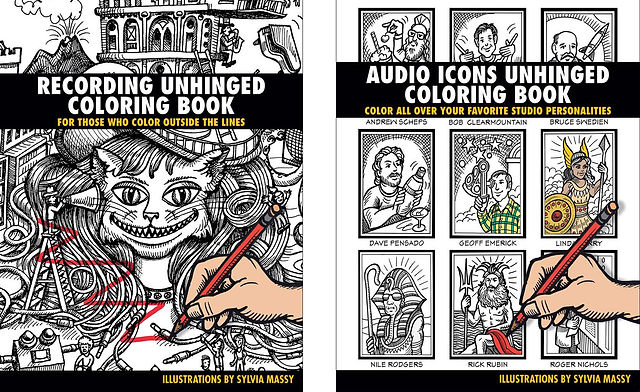 audio icons unhinged coloring book - Outside The Lines Coloring Book