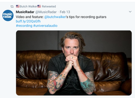 Musicradar talks to Butch Walker at NAMM about Universal Audio and more