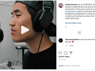 Andrew Huang is rocking his new Hi-X65!