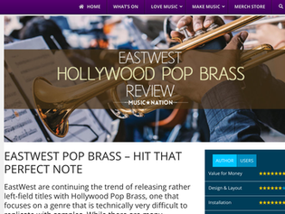 EastWest Hollywood Pop Brass: The Perfect Package