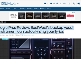 Logic Pros Review: EastWest's backup vocal instrument can actually sing your lyrics