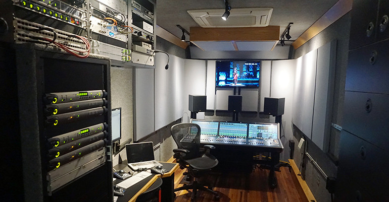 Music Mix Mobile Truck Interior with UA Live Racks