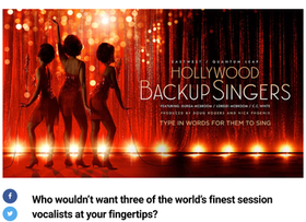 Three of the world's finest session vocalists at your fingertips...