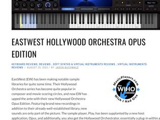 "Hollywood Orchestra Opus Edition wins MusicPlayers.com's ""Wish I had One"" Award!"