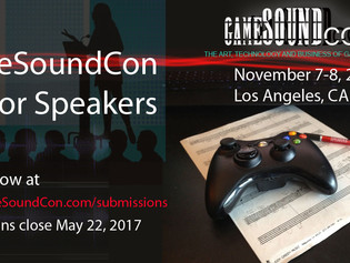 GameSoundCon 2017 Call for Speakers!