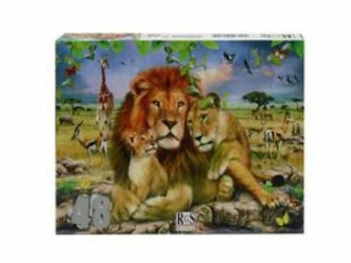 Lions Puzzle | 48 Piece