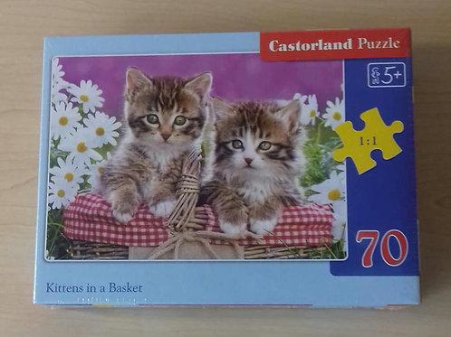 Kittens in a basket | 70 Piece