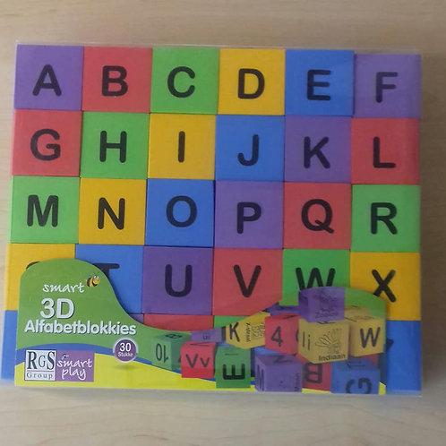 Foam 3D alphabet blocks