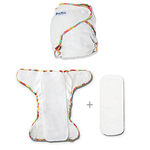 Biddykins | Newborn Cotton-Bamboo Fitted Nappy