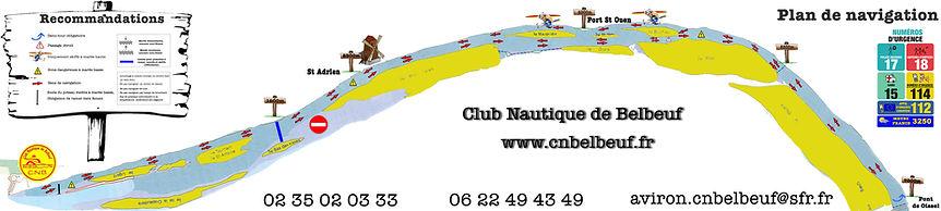 Plan de navigation du Club Nautique de Belbeuf