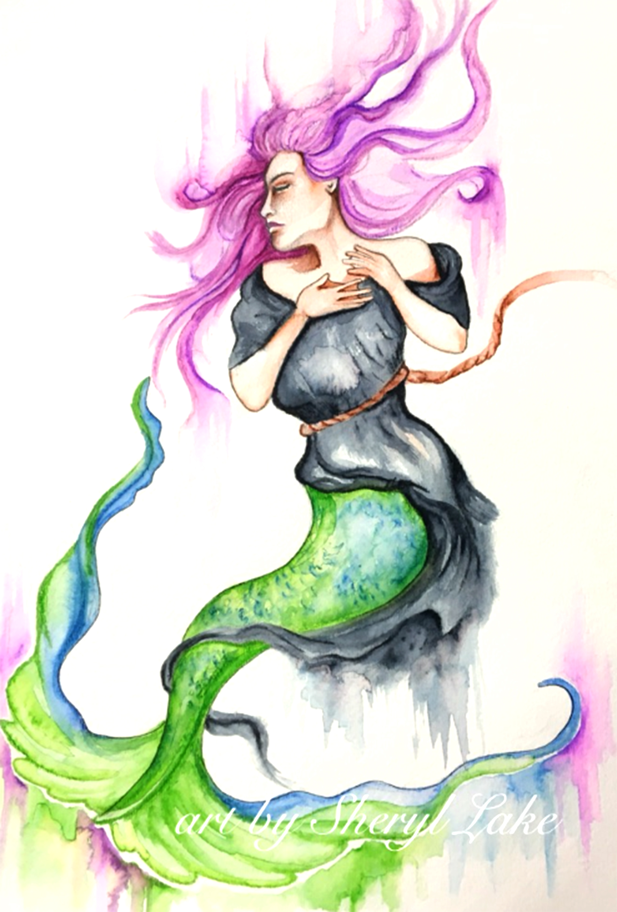 mermaid watermark