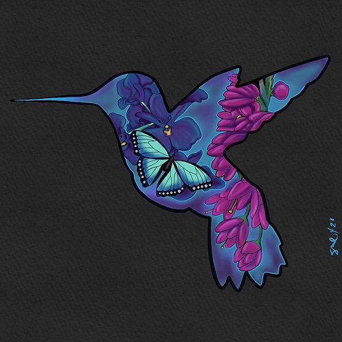 Digital File Hummingbird Lightbox