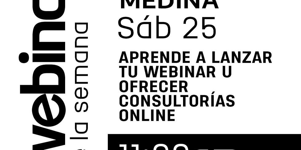 Aprende a lanzar tu webinar u ofrecer consultorias online